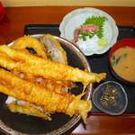 114104761 - 穴子天丼定食1600円+ご飯大盛り無料 税別