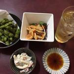 さかな処 三吉 - だだちゃ豆、ホヤ酢