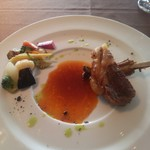 114110410 - 仔羊のローストと夏野菜のマリネ バジル風味のジュで