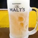 三浦のハンバーグ - 生ビール:300円