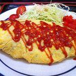 一心亭 - 料理写真:昭和オムライスのアップ
