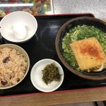 伊賀ドライブイン - うどん定食480円税込玉子はサービス