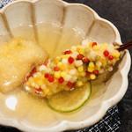 串揚げ ゲアシーク - 松茸と鱧アラレ