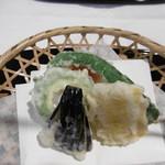 六盛 - 夏野菜の天ぷら