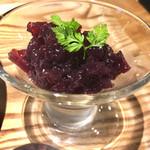 肉ばたけ - ランチのデザート  葡萄のジュレ