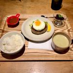 肉ばたけ - ランチ 京都牛100% 180g ¥1500  目玉焼きトッピング  ¥150