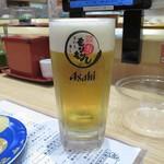 もりもり寿し - 生ビール