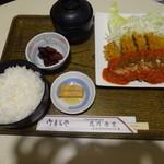 北川食堂 - 月替わり定食:ビーフカツ定食 ¥1200