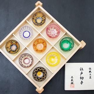 伝統工芸珠玉の江戸切子で頂く日本酒