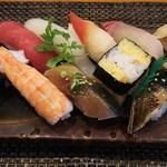 玄海鮨 - 梅にぎり(800円)+アナゴ追加分