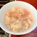 中華料理 八戒 - カリィランチの玉子スープ