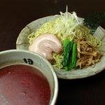 麺処 田ぶし - 辛田ぶしつけ麺。横浜店オリジナル!突き抜ける辛さに箸が止まらない!