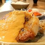 手造り食の店しもだ - 料理写真:ハーブ豚ロースのソテー、オーロラソースとの相性最高!!