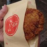 浅草メンチ - アツアツですが、揚げたてじゃない。浅草メンチ 250円