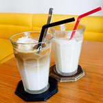 114158381 - アイスチャイとアイス南国風ココナッツコーヒー