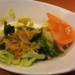 紅蓉軒 - スーパイコ定食サラダ 半分。