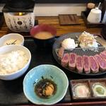 Gyuukatsusemmontenushitora - 牛かつ定食S