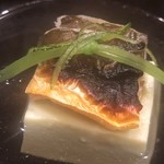 114164096 - 長良川の鮎と枝豆豆腐でした