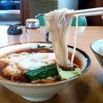 Suzuyashiyokudou - すゞや食堂@大田原 つけ麺 つけ汁にそばをつけて