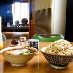 Suzuyashiyokudou - すゞや食堂@大田原 ひたし天ぷら・中盛り・玉子 横から