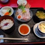 魚料理の店 鮮魚まるふく - 鯛刺身定食