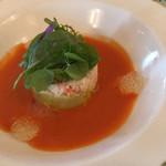 S.S.コロンビア・ダイニングルーム - 料理写真:ズワイガニとアボカドのサラダ、ガスパチョ仕立て