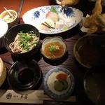 樽座敷 天神芙蓉 - 刺身、天ぷら、蕎麦、などなど