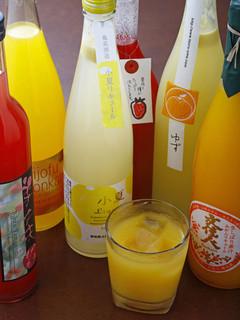 居酒屋 とうちゃんや - 果実酒も各種取り揃えております。