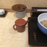 小諸そば - 蕎麦湯