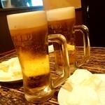 114190670 - もつしげ@野毛小路 生ビール(530円)