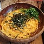 スパゲティーnokishita - たらことウニと青じそのスパゲティです