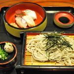 そば幸 - 料理写真:ざるそばにぎり寿司セット