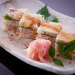 稲月 - 鰹の天ぷら箱寿司