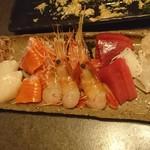 Hakodate Dining 備後屋 - 刺身盛り合わせ(2019/7/25)