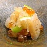 くすのき - 料理写真:新銀杏、筋子、平貝、白海老のみぞれ和え