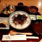 hitsumabushiwashokubinchou - まぶし丼ランチ ごはん大盛+お茶漬けの出汁