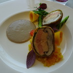 レストランKEI - 絹姫サーモンのムースとシイタケのファルシ