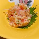 博多焼き鳥・野菜巻き・もつ鍋 かつぎや - トロタク&梅水晶 780円