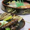 寿司義 - 料理写真:焼き鳥、お寿司