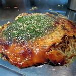広島お好み焼き 廣 - 肉玉そば+イカ天