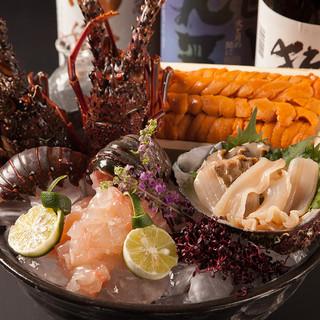【宴会に】豪華刺身&海鮮鉄板焼を含んだ飲み放題付コース