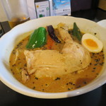 sapporosu-pukare-semmontenesupa-itou - 煮込みレッグ(辛さ4・オリジナルスープ) 1150円(2019年8月)