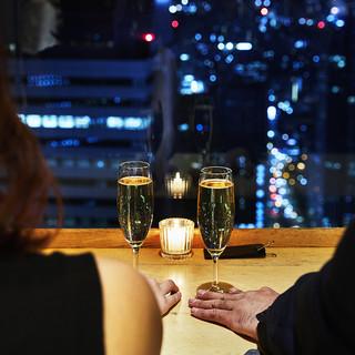 新宿野村ビル49階♪地上200メートルの夜景ロケーション