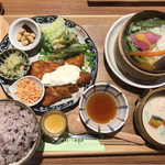 膳や musi-vege+ - vege -vegeプレート(鶏笹身南蛮)税込 1080円