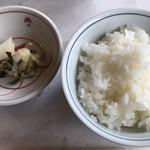 木曽路 - 御飯、香の物