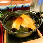 鳴門グランドホテル - 小鍋の出汁はタイのアラから