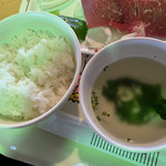 大笹牧場レストハウス ジンギスカンハウス - ご飯は美味しい。