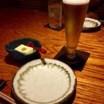 酒ダイニング つじ丸 - まずはビール♡これで小グラ!