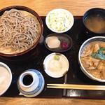 青海岸 - 親子丼セット ざる2枚
