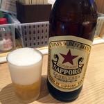 114236573 - 「サッポロラガー(大瓶)」410円也。